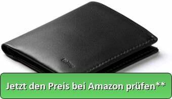 Bellroy Note Sleeve, schlanke Leder Brieftasche, mit RFID Schutz erhältlich (Max. 11 Karten, Geldscheine und Münzen) - Black - Jetzt den Preis bei Amazon prüfen**
