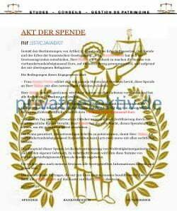 Gefälschtes Zertifikat für eine angebliche Spende