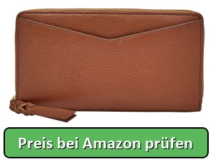 Fossil Geldbörse Caroline RFID Zip Braun Damen Portemonnaies Leder - Preis bei Amazon prüfen