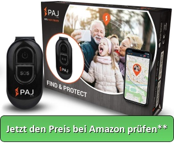 PAJ GPS Easy Finder GPS Tracker Kinder ca. 5 Tage Akkulaufzeit (bis zu 10 Tage im Standby-Modus) Live Ortung Mini GPS Tracker - Jetzt den Preis bei Amazon prüfen**