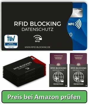 dbb373c740b61 TÜV geprüfte RFID Blocking NFC Schutzhüllen - Preis bei Amazon prüfen