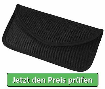 Wafly RFID Strahlenschutz Tasche for Handy, GSM/LTE/NFC Signal Blocker Case Abschirmhülle für iPhone XS Max/XR/XS/X/7 Plus/8/7/6, Samsung S9/S8 und anderes Telefon bis zu 6,5 Zoll Brieftasche-Schwarz - Jetzt den Preis prüfen